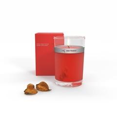 red flower セレンディプス イタリアンブラッドオレンジ ペタルトップキャンドル